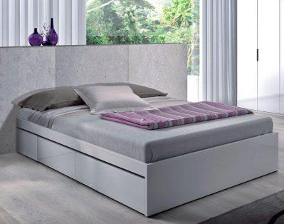 cama con cajones blanca