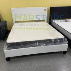 cama matrimonial blanca
