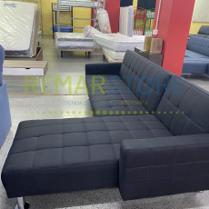 sofa chaisse longue negro