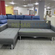 sofa chaisse longue gris