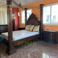 cama colonial de madera