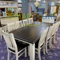 conjunto madera 10 sillas blanco